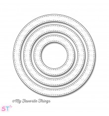 Troqueles Stitched Circle Frames