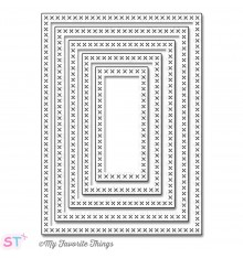 Troqueles Cross-Stitch Rectangle