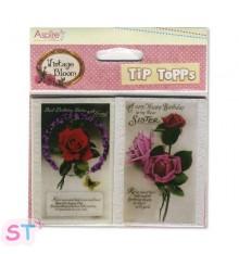 8 Tarjetas Vintage Bloom Floral