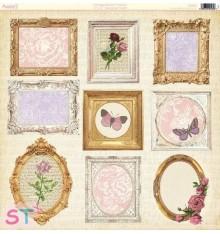 Papel 12x12 Vintage Bloom Frames