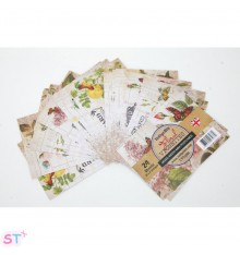 Mini Postcards Floral Vignettes IndigoBlu