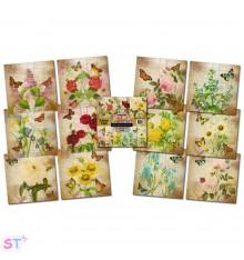 Paper pad Floral Vignettes 6x6 IndigoBlu