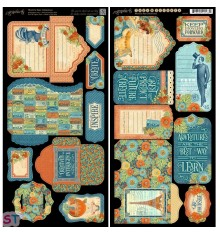 World's Fair Tags and Pockets Cartulina precortada Graphic 45
