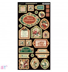 A Christmas Carol Decorative Chipboard precortado Graphic 45