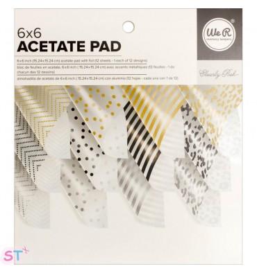 Paper pad de acetato con aluminio 6x6