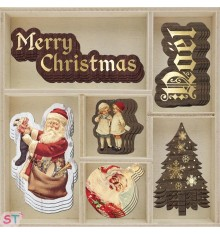 24 Adornos de madera A Victorian Christmas