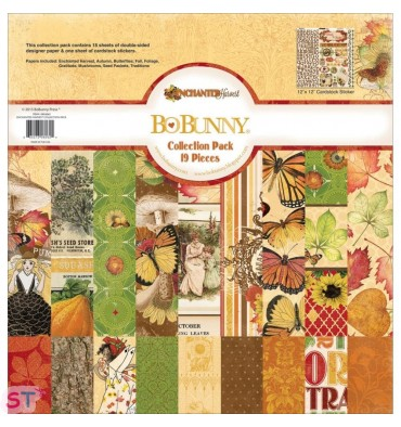 Pack Paper pad Enchanted Harvest 12x12 Bo Bunny