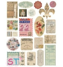 Air Mail Sticker Cardstock