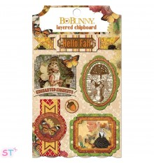 Chipboard con relieve Enchanted Harvest de Bo Bunny