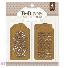 Trellis Tags chipboard Bo Bunny