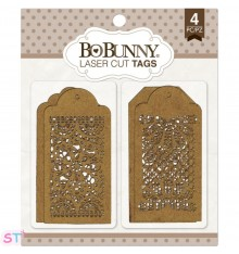Lace Tags chipboard Bo Bunny