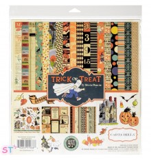 Pack Paper pad Trick Or Treat 12x12 Carta Bella