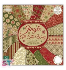Paper pad First Edition Jingle all the Way 12x12