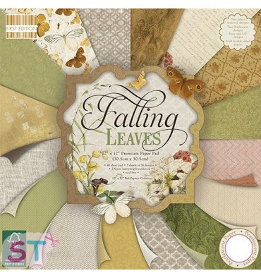 Paper pad First Edition Falling Leaves 12x12