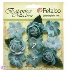 Botanica Vintage Velvet Mini Teal x 9