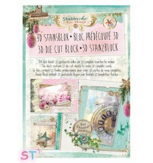 Block precortado Shabby Chic Christmas A4
