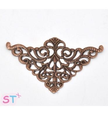 Esquineras antiguas filigrana cobre (4)