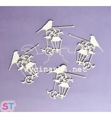 Pájaro con farol x 3