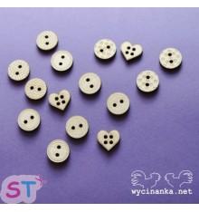 Botones de madera x 15