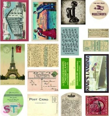 16 Etiquetas Ephimera Correspondence 7 Gypsies