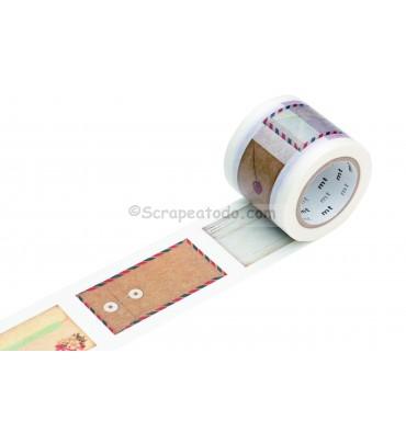 Washi extra-ancho con sobres y etiquetas