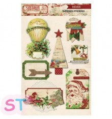 Stickers Vintage Christmas 3D