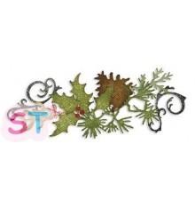 Troquel tira decorativa Festive Greenery