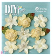 DIY Textured Mini Blossom pintables x 9