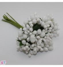 Flores de boda Mulberry con estambres x 12