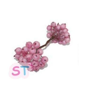 Granadas de cristal rosa x 20