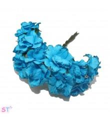Rosas con glitter azul x 6