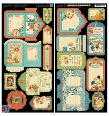 Children's Hour Tags and Pockets Cartulina precortada Graphic 45
