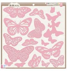 Plantilla Butterflies Bo Bunny 12x12
