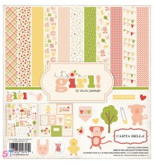 Paper pad Collection Kit Its a Girl 12x12 Carta Bella
