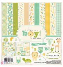Paper pad Collection Kit Its a Boy 12x12 Carta Bella
