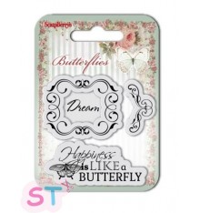 Sellos de silicona Butterflies Dream de Scrapberrys