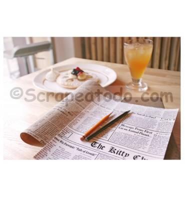 Tela adhesiva Newspaper white