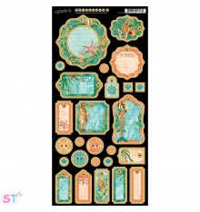 Voyage Beneath The Sea Journaling Chipboard precortado Graphic 45