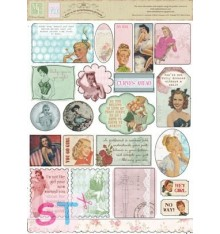 Cest la Vie Sticker Cardstock Retro