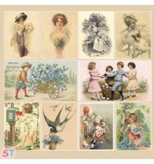 Retro Basic collection Postcard 12x12