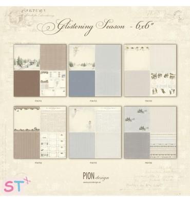 6 Papeles 12x12 Glistening Season de Pion Design