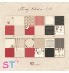 6 Papeles 12x12 To my Valentine de Pion Design