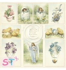 Papel 12x12 Easter Greetings de Pion Design