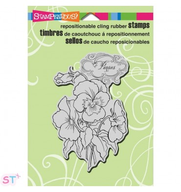 Sello Pansies Stampendous