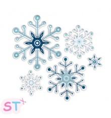 Snowflakes de Paula Pascual con sellos
