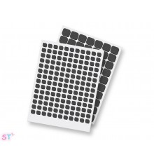 THIN 3D FOAM SQUARES Permanent  cuadrados negro 2mm