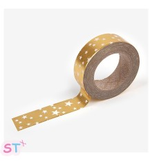 Washi tape Starry Gold