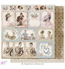 Hoja Vintage Romance Ephemera Cards