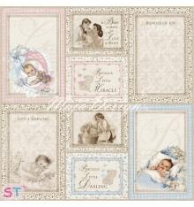 Hoja Vintage Baby Ephemera Cards