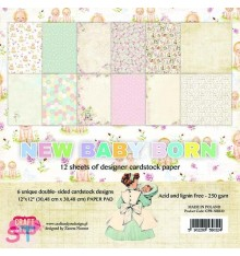 Paper Pad New Baby Born 12x12 Craft & You
